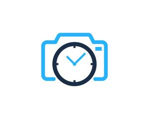 Camera Time Icon Logo Design Element