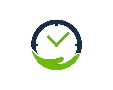 Care Time Icon Logo Design Element