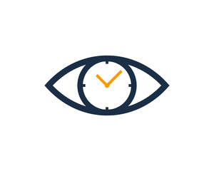 Eye Time Icon Logo Design Element
