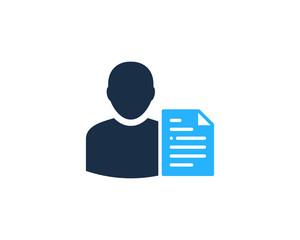 User File Icon Logo Design Element