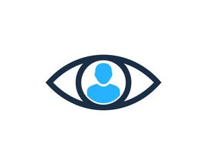 User Eye Icon Logo Design Element