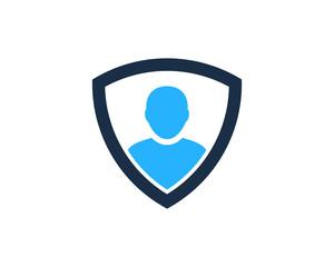 Shield User Icon Logo Design Element