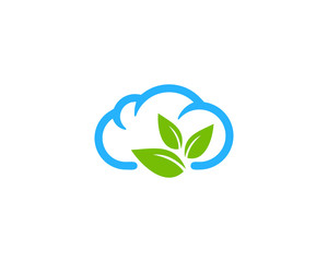 Nature Cloud Icon Logo Design Element
