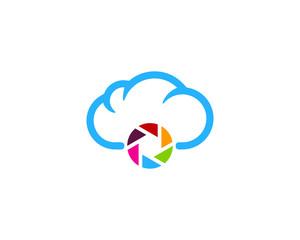 Camera Cloud Icon Logo Design Element