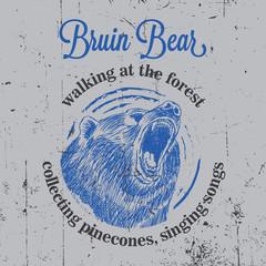 Bruin Bear Vintage Poster