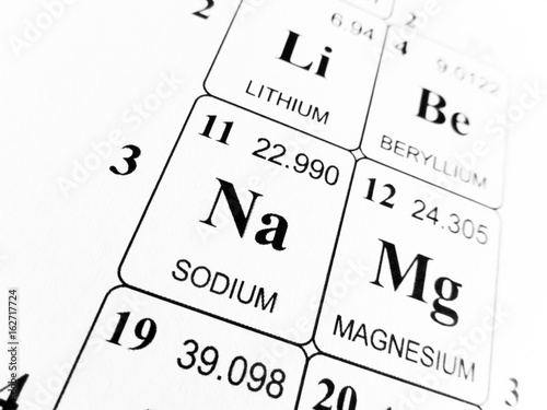 Sodium On The Periodic Table Of The Elements Stock Photo And