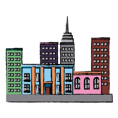 buldings business commercial residence urban vector illustration