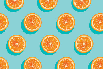 Slices of fresh orange summer background.