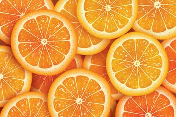 Orange slice background for summer.