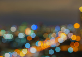 Defocused lights abstract colorful round bokeh background