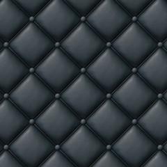 capitonnage cuir noir