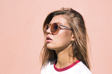 Girl with sunglasses, Summer portrait