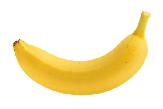 Banana isolated without shadow