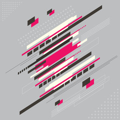 Abstract technology modern geometrical shape with line background, Vector