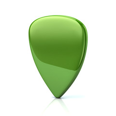 Green guitar pick
