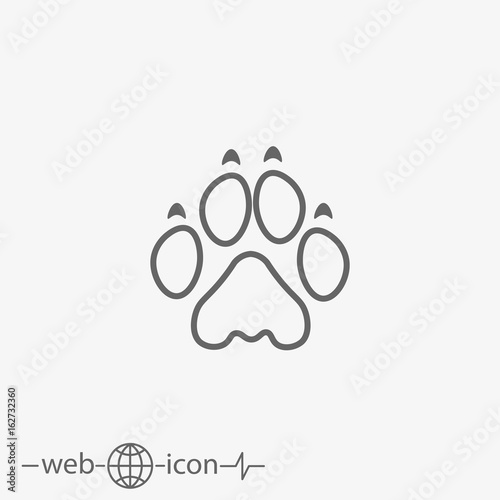 lion paw print stock image and royalty free vector files on