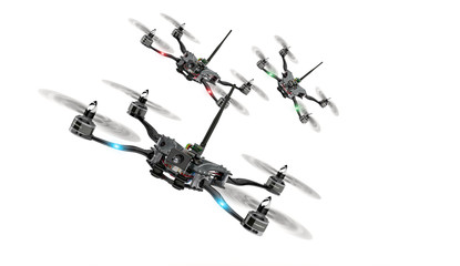 Copter drone race Wall mural