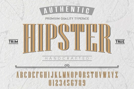 Font.Alphabet.Script.Typeface.Label.Hipster typeface.For labels and different type designs