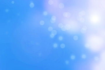 Beautiful bokeh on Color blue background represent meaning of peaceful and relax on summer holiday.