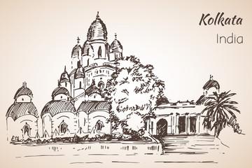 Dakshineshwar Temple - city Kolkata. Papier Peint