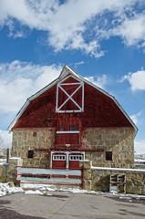 Stone Barn at Holy Cross Abbey in Canon City, Colorado