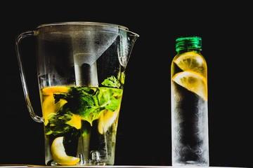 Лимонад с лимоном и мятой
