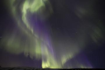Aurora over Akureyi, Iceland.