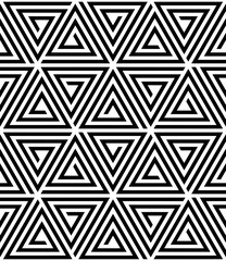 Fotobehang ZigZag Vector seamless pattern. Modern stylish texture. Monochrome geometric pattern with hexagonal tiles.