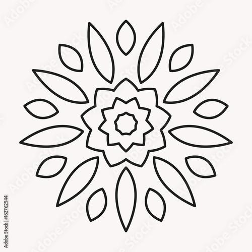 simple flower mandala outline