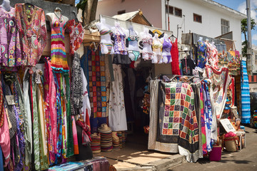 Small colorful shop on Mauritius Gand Baie