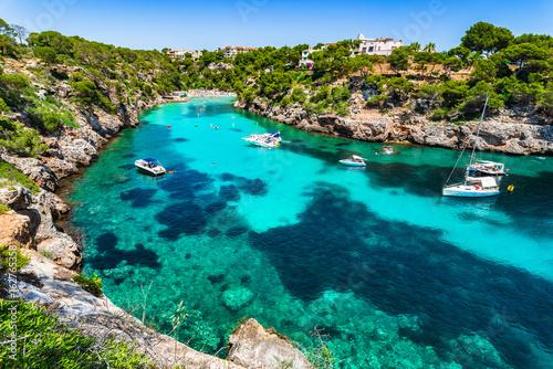 Mallorca Strand Bucht Cala Pi Spanien Mittelmeer Stockfotos Und