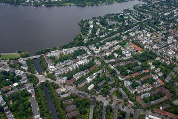 Hamburg, Germany - Panorama from above