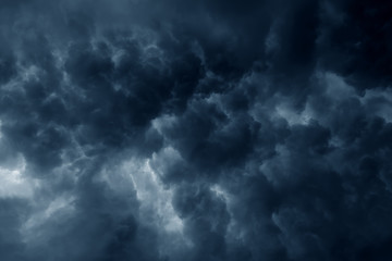 Stormy rain clouds background Wall mural