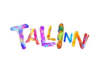 Tallinn city name. Triangular letters