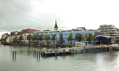Embankment in Friedrichshafen. Germany