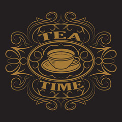 A cup of tea, logo.