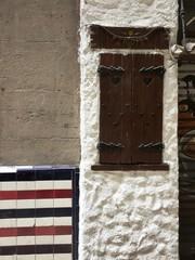 Facade details in Barcelona (Catalunya, Spain)
