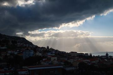 Seilbahn Fahrt von Monte nach Funchal, Madeira