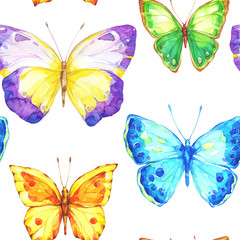 Amazing colorful background with butterflies.