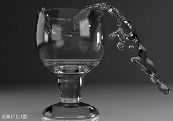 gorbet glass, schooner, chalice 3D illustration