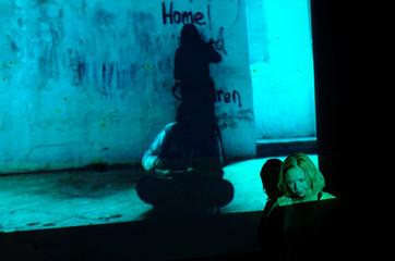 Dancer performs in 'Terra Verunt', a performance exploring migration, during the Malta International Arts Festival in Valletta