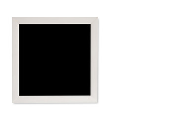 empty picture frame on a white background.