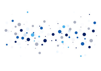 Bubbles circle dots blue bright connection background. Vector illustration