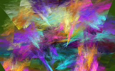 Abstract colorful background. Fractal.