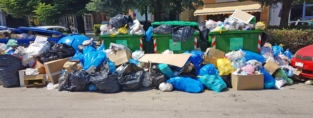 rubish bin full