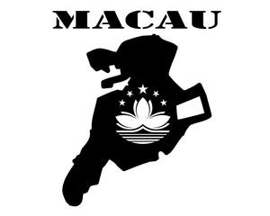Symbol of  Macau and map