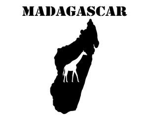 Symbol of  Madagascar and map