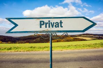 Schild 251 - Privat