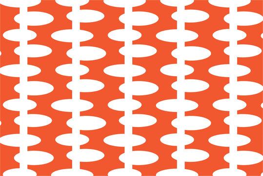 Modern orange oval pattern