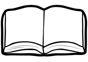 Open book sketch vector image
